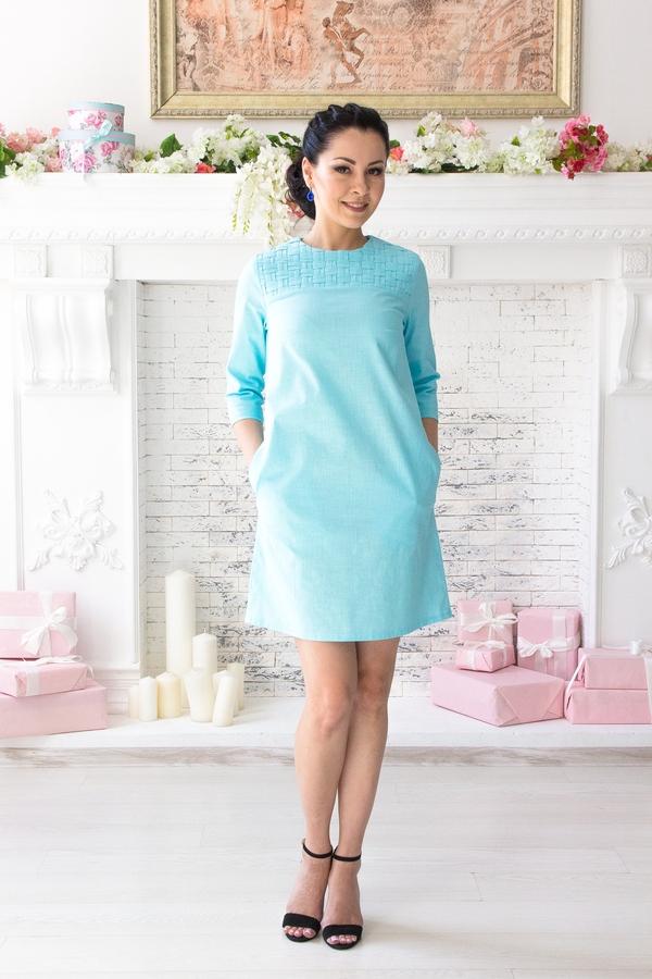 Платье «Плетеный Лен»