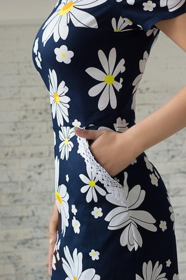 Платье ромашками